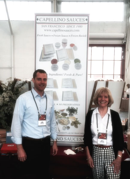 Judy Capellino and her son at the Speciality Food Show.